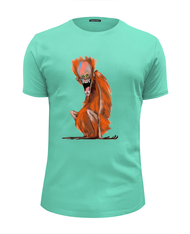 Футболка Wearcraft Premium Slim Fit Printio Обезьянка футболка wearcraft premium slim fit printio обезьянка биззи 2016
