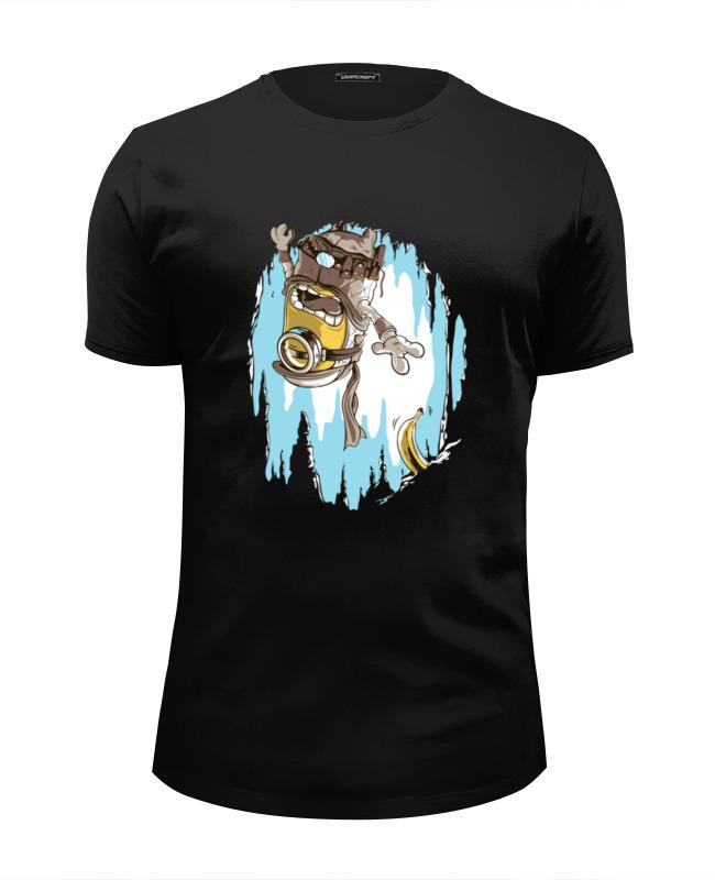 Футболка Wearcraft Premium Slim Fit Printio Миньон с бананом футболка wearcraft premium slim fit printio миньон