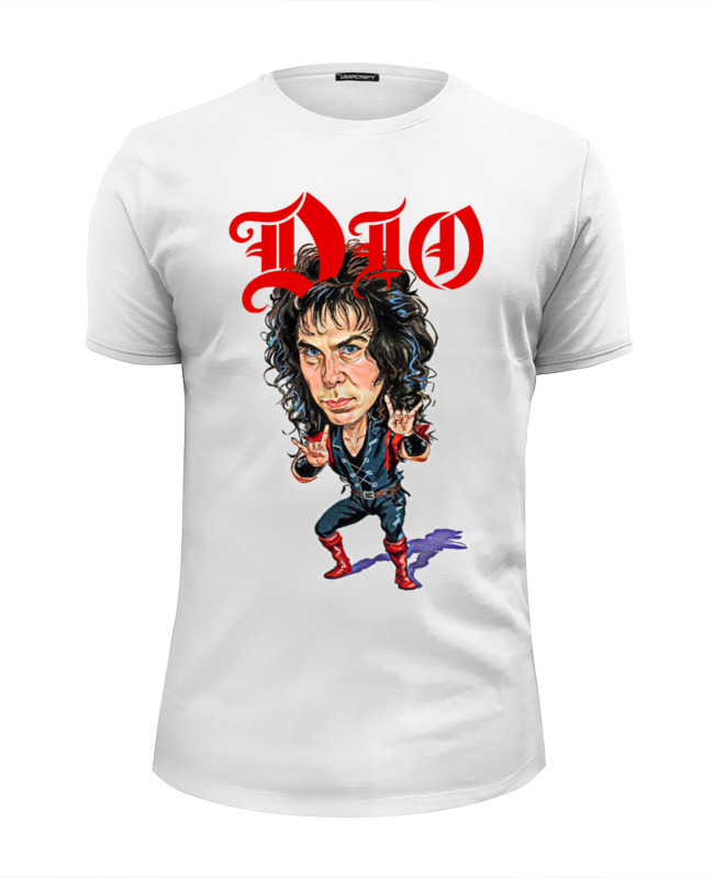 Футболка Wearcraft Premium Slim Fit Printio Ronnie james dio цена