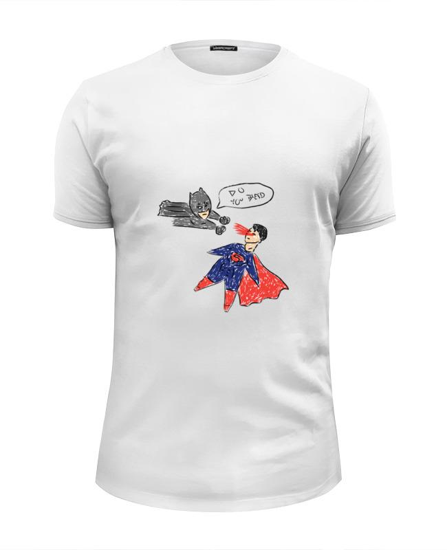 все цены на Футболка Wearcraft Premium Slim Fit Printio Бэтмен и супермен онлайн