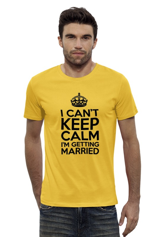 Футболка Wearcraft Premium Slim Fit Printio I cant keep calm i am getting married футболка wearcraft premium printio keep calm i am 1 1