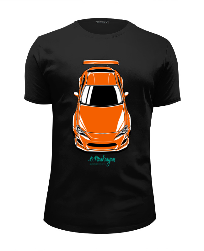 Футболка Wearcraft Premium Slim Fit Printio Toyota gt86 / scion frs