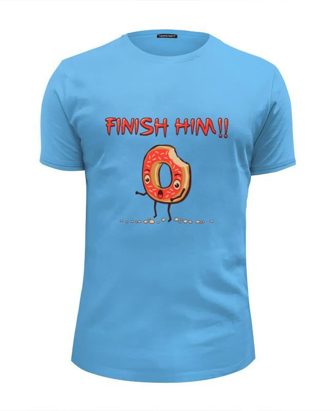 Футболка Wearcraft Premium Slim Fit Printio Finish him! (прикончь его) футболка print bar him
