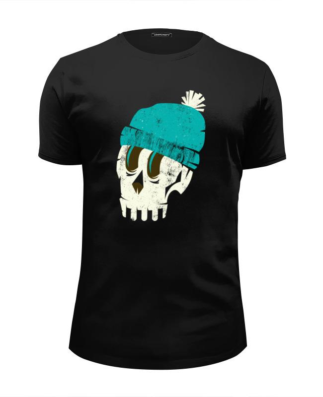 Футболка Wearcraft Premium Slim Fit Printio Череп в шапке футболка wearcraft premium slim fit printio череп в розах