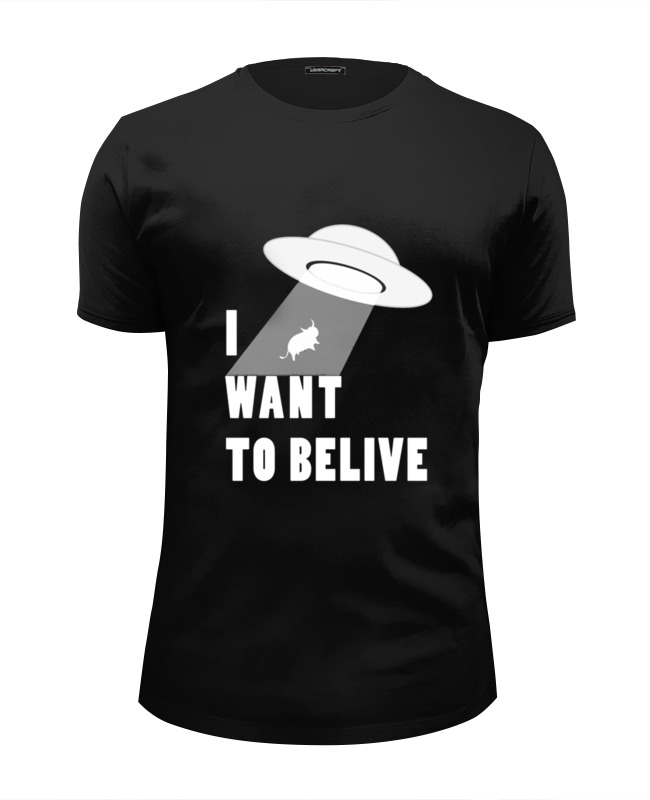 Футболка Wearcraft Premium Slim Fit Printio I want to believe