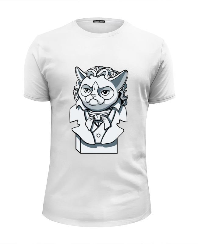 Футболка Wearcraft Premium Slim Fit Printio Грустный кот футболка wearcraft premium slim fit printio грустный кот grumpy cat