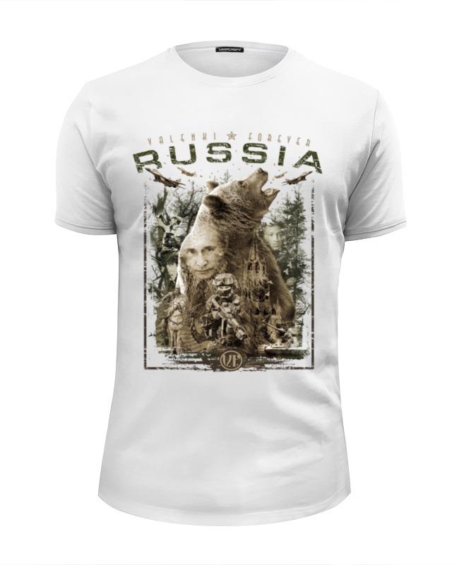 Футболка Wearcraft Premium Slim Fit Printio Россия футболка wearcraft premium slim fit printio спецназ россии в 1