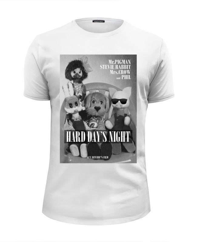 Футболка Wearcraft Premium Slim Fit Printio Hard day's night by design ministry цена
