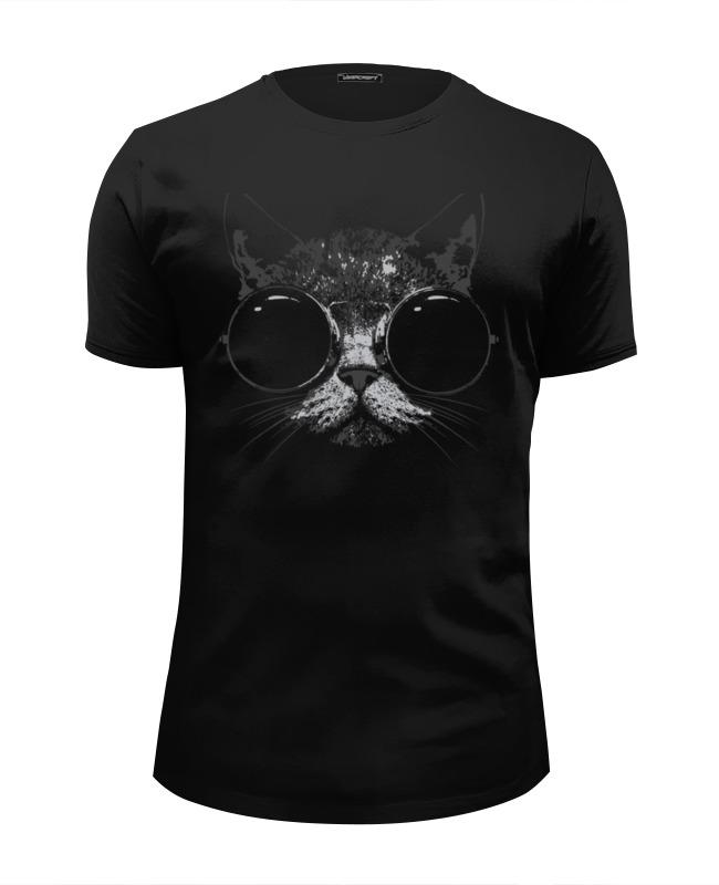 Футболка Wearcraft Premium Slim Fit Printio Стильный кот футболка wearcraft premium slim fit printio усатый кот