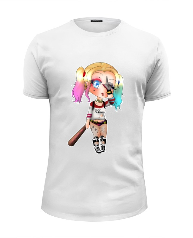 Футболка Wearcraft Premium Slim Fit Printio Harley quinn