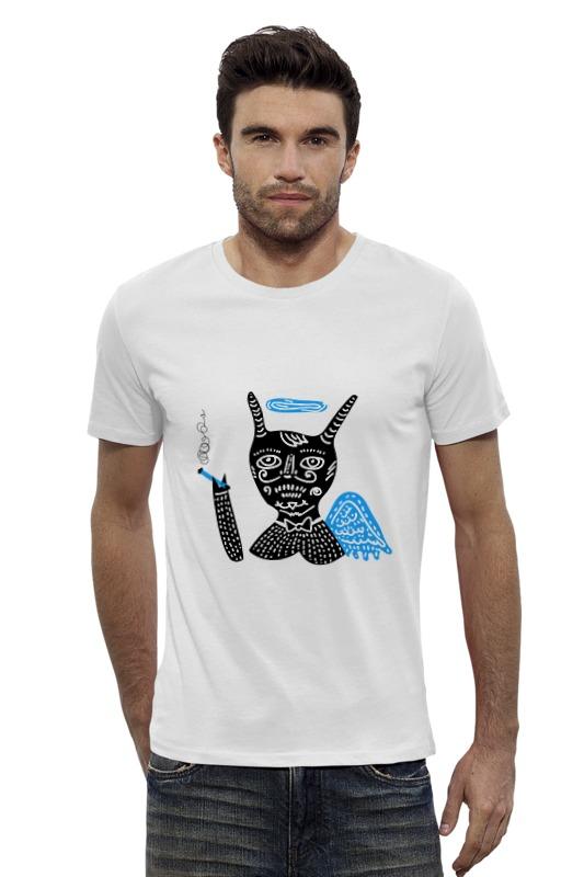 Футболка Wearcraft Premium Slim Fit Printio Smoking angel футболка wearcraft premium printio no smoking