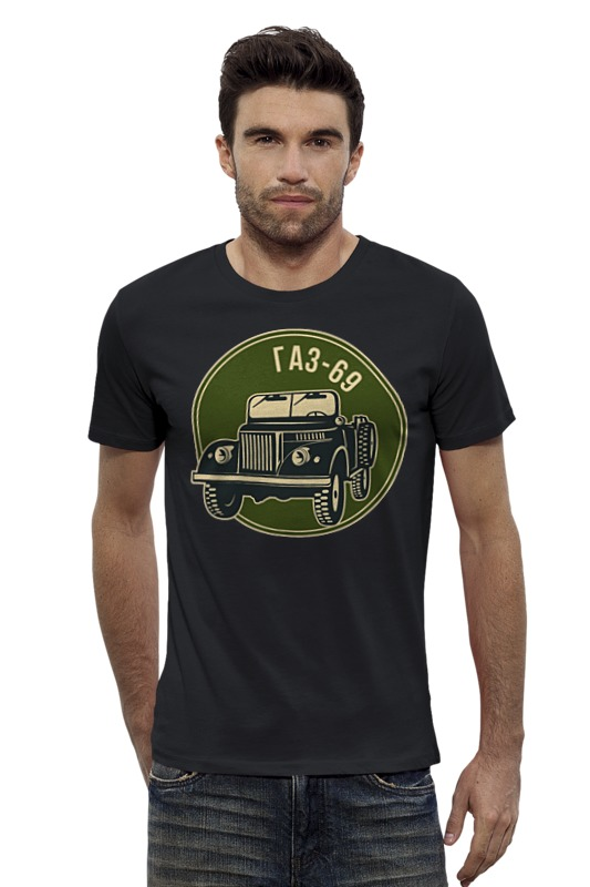 Футболка Wearcraft Premium Slim Fit Printio Русский джип газ 69