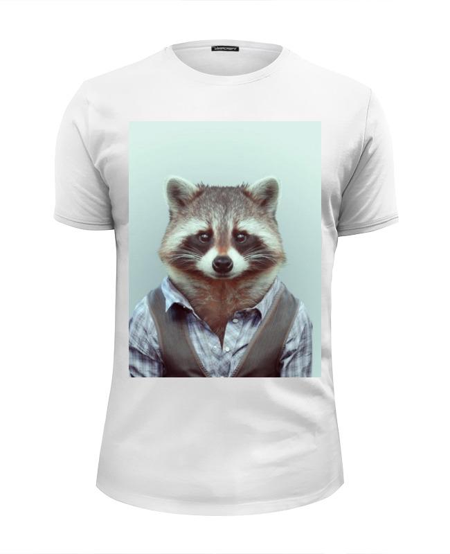 Фото - Printio Деловой енот футболка wearcraft premium slim fit printio енот ганстер