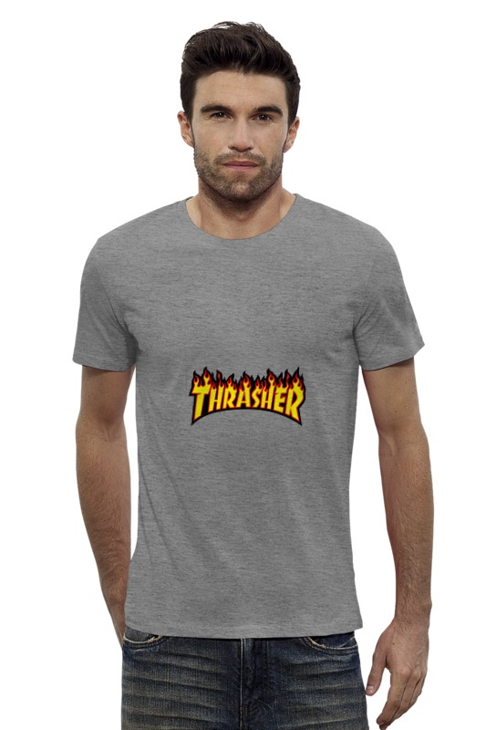 Футболка Wearcraft Premium Slim Fit Printio Thrasher thrasher бейсболка thrasher skategoat mesh black grey