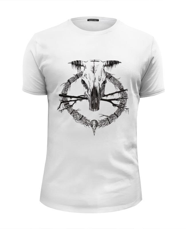 Футболка Wearcraft Premium Slim Fit Printio Occult skull / оккультный череп футболка стрэйч printio occult skull оккультный череп