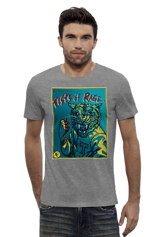 Футболка Wearcraft Premium Slim Fit Printio Fists of rage футболка toy machine fists royal