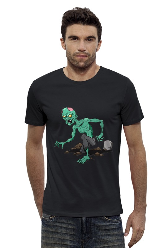 Футболка Wearcraft Premium Slim Fit Printio Зомби футболка wearcraft premium slim fit printio avengers