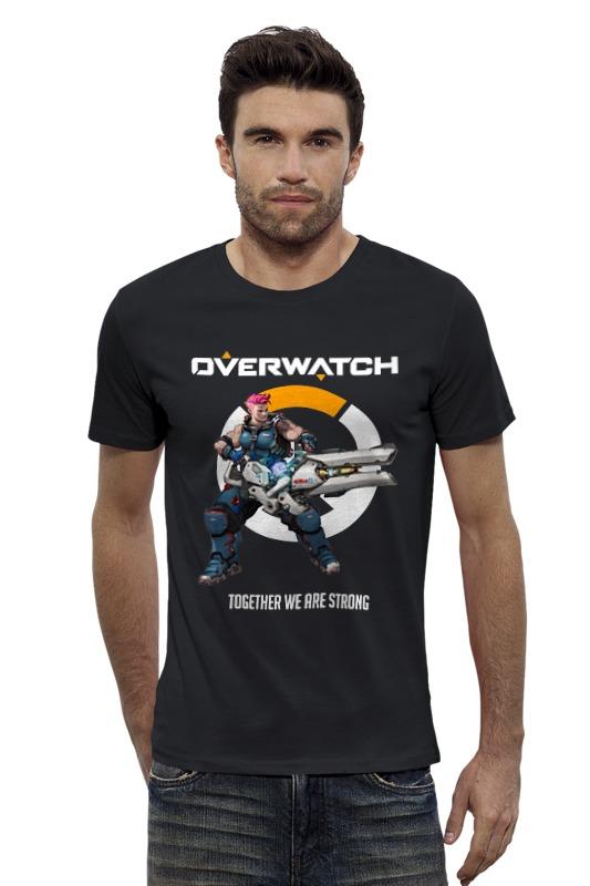 Футболка Wearcraft Premium Slim Fit Printio Overwatch. заря футболка стрэйч printio заря
