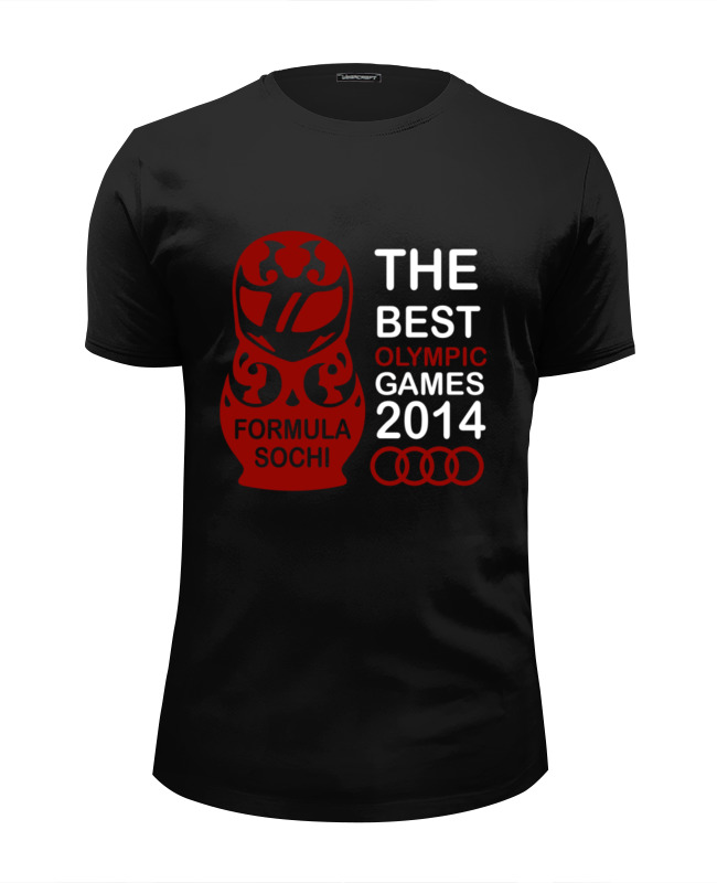 Футболка Wearcraft Premium Slim Fit Printio The best olympic games 2014 the games