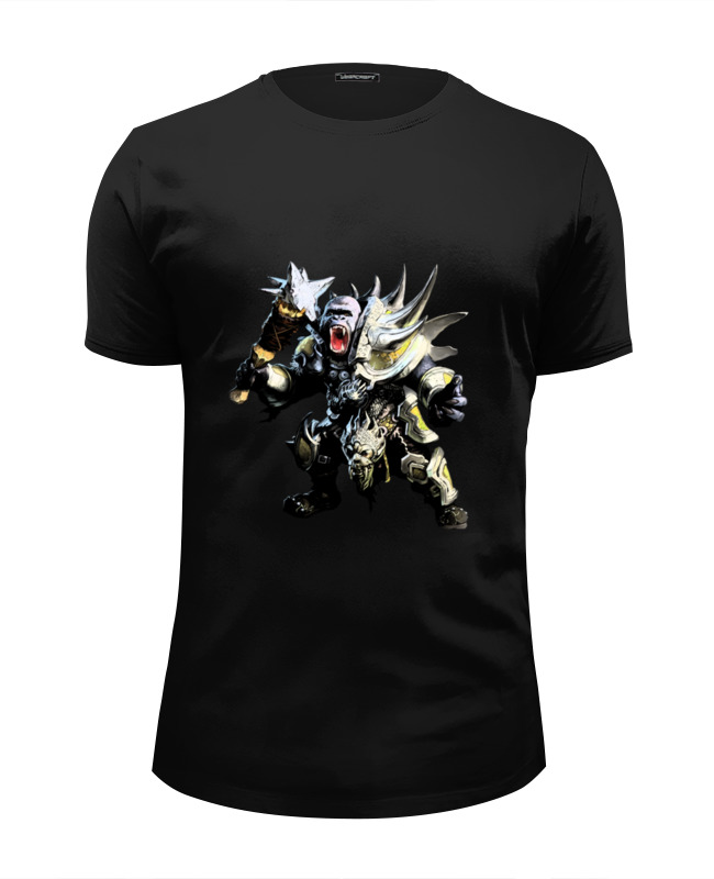 Футболка Wearcraft Premium Slim Fit Printio Обезьяна-воин футболка wearcraft premium slim fit printio бесстрашный воин