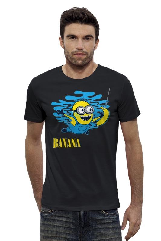 Футболка Wearcraft Premium Slim Fit Printio Banana. миньоны разъемы и переходники in akustik premium banana hollow tip