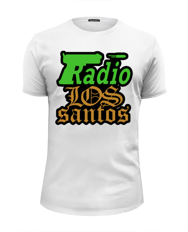 Футболка Wearcraft Premium Slim Fit Printio Radio los santos футболка wearcraft premium slim fit printio k jah west radio