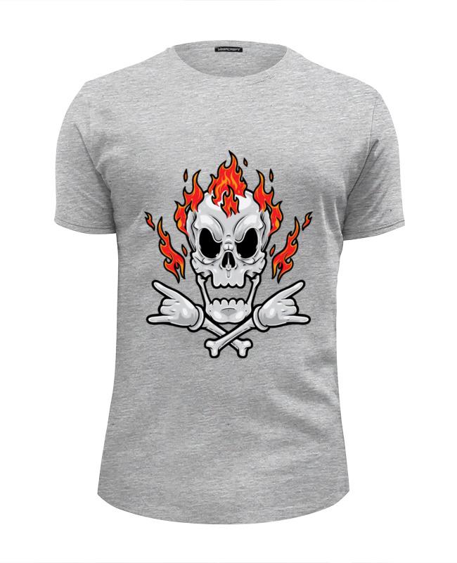Футболка Wearcraft Premium Slim Fit Printio Череп в огне футболка wearcraft premium slim fit printio череп в розах