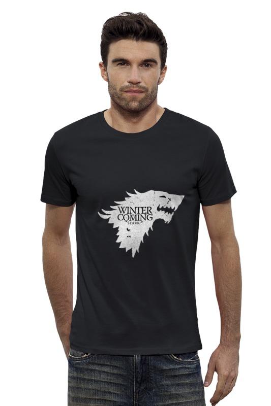 Футболка Wearcraft Premium Slim Fit Printio House stark (game of thrones) футболка для беременных printio game of thrones stark