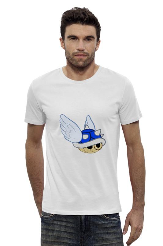 Футболка Wearcraft Premium Slim Fit Printio Голубой щит (марио) reikartz рубашка reikartz slim fit 100506 1 белый голубой