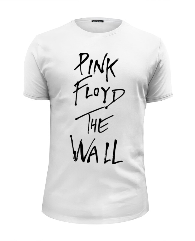 Футболка Wearcraft Premium Slim Fit Printio Pink floyd, the wall pink self tie design off the shoulder long sleeves loose fit blouse