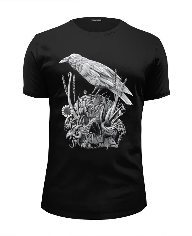 Футболка Wearcraft Premium Slim Fit Printio Белая ворона футболка рингер printio ворона