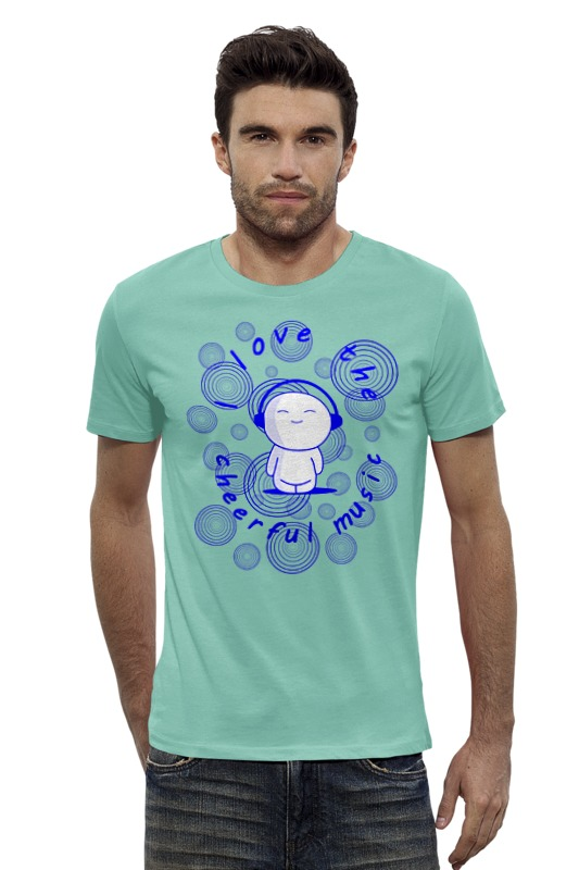 Футболка Wearcraft Premium Slim Fit Printio Я люблю весёлую музыку!!! футболка wearcraft premium slim fit printio я люблю мир
