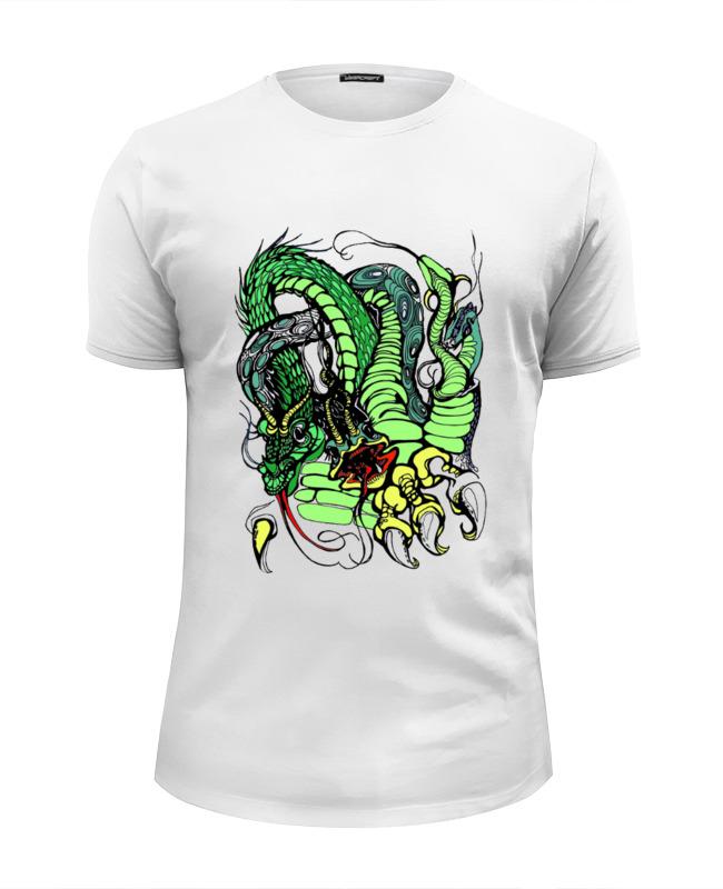 Футболка Wearcraft Premium Slim Fit Printio Змей горыныч зелёный футболка wearcraft premium printio китайский дракон