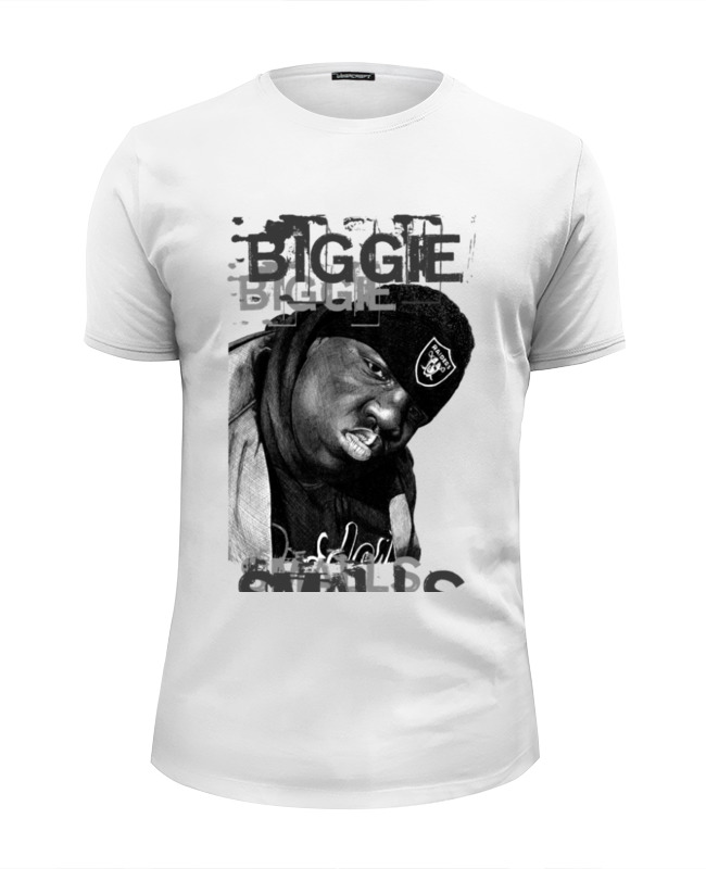 Футболка Wearcraft Premium Slim Fit Printio Notorious b.i.g. (biggie smalls) hip hop legend футболка классическая printio hip hop time