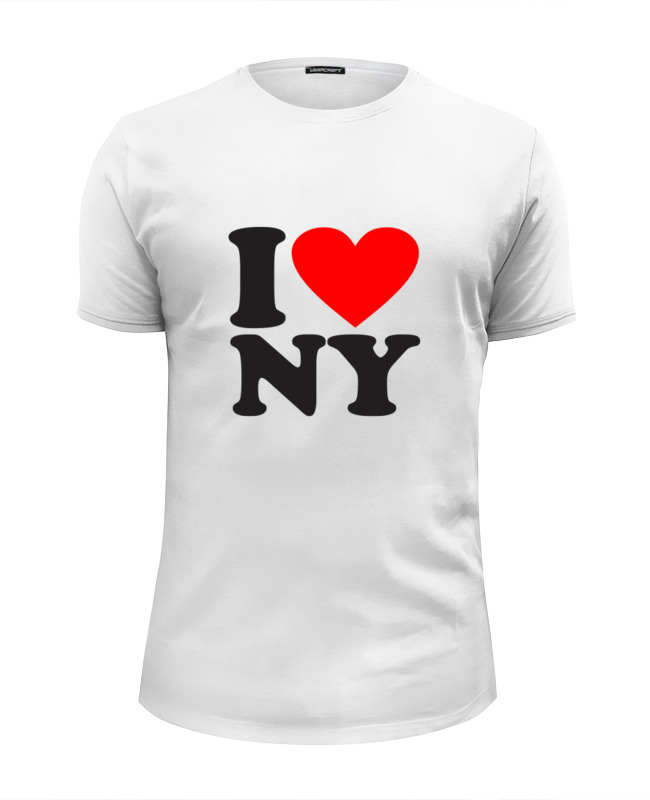 Футболка Wearcraft Premium Slim Fit Printio I love ny футболка wearcraft premium slim fit printio i love navalny