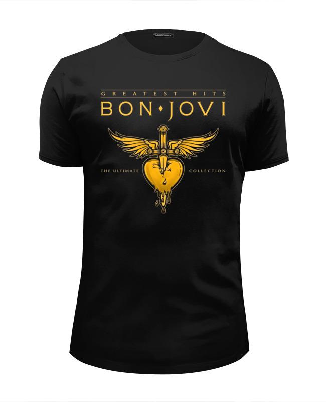 Футболка Wearcraft Premium Slim Fit Printio Bon jovi band цена и фото