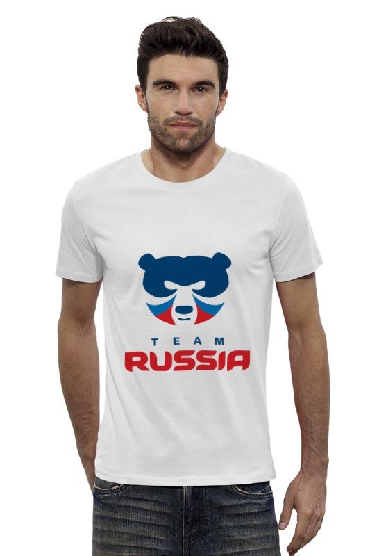 Футболка Wearcraft Premium Slim Fit Printio Russia team футболка wearcraft premium printio russia team