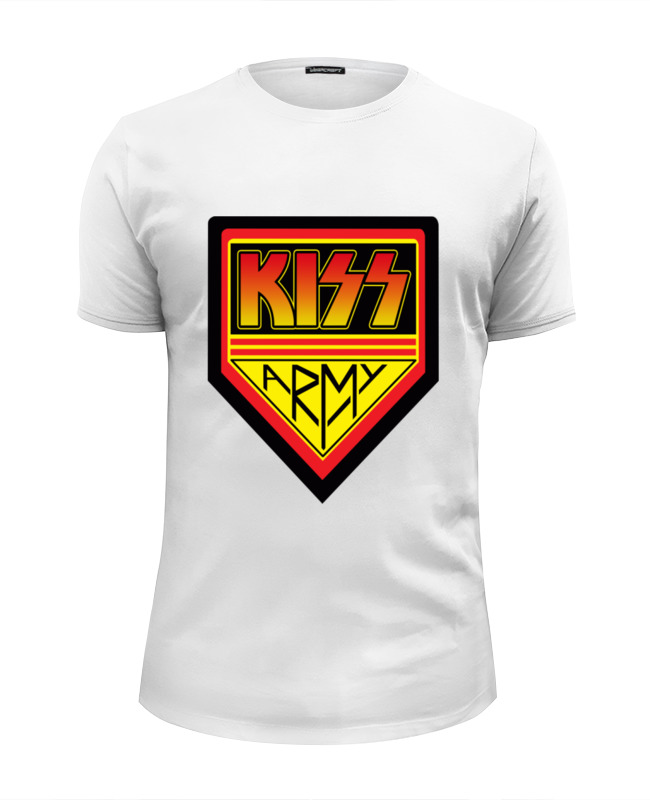 Фото - Футболка Wearcraft Premium Slim Fit Printio Kiss army футболка wearcraft premium printio kiss army