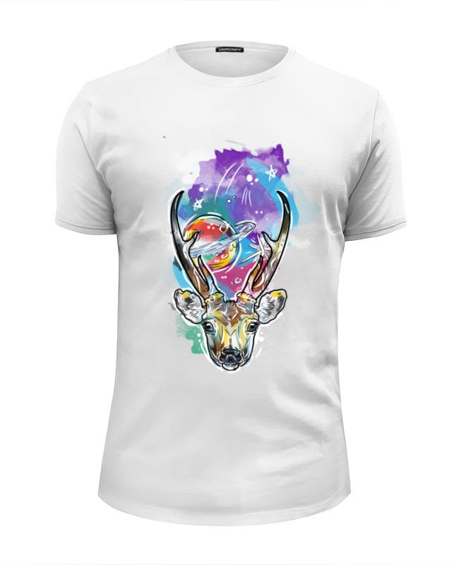Футболка Wearcraft Premium Slim Fit Printio Олень и космос футболка wearcraft premium slim fit printio космос