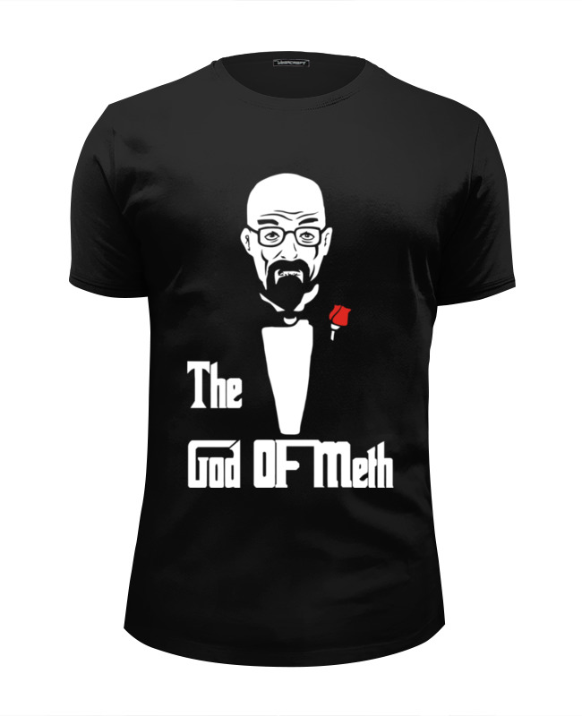 Футболка Wearcraft Premium Slim Fit Printio God of meth (breaking bad) футболка классическая printio god of meth breaking bad