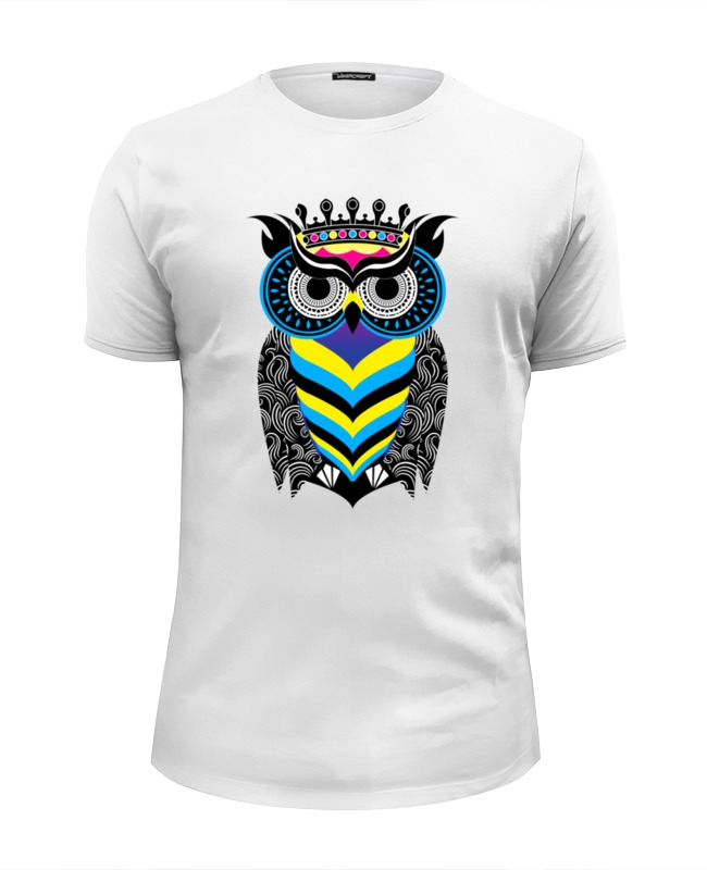 Футболка Wearcraft Premium Slim Fit Printio Сова арт футболка wearcraft premium printio арт сова