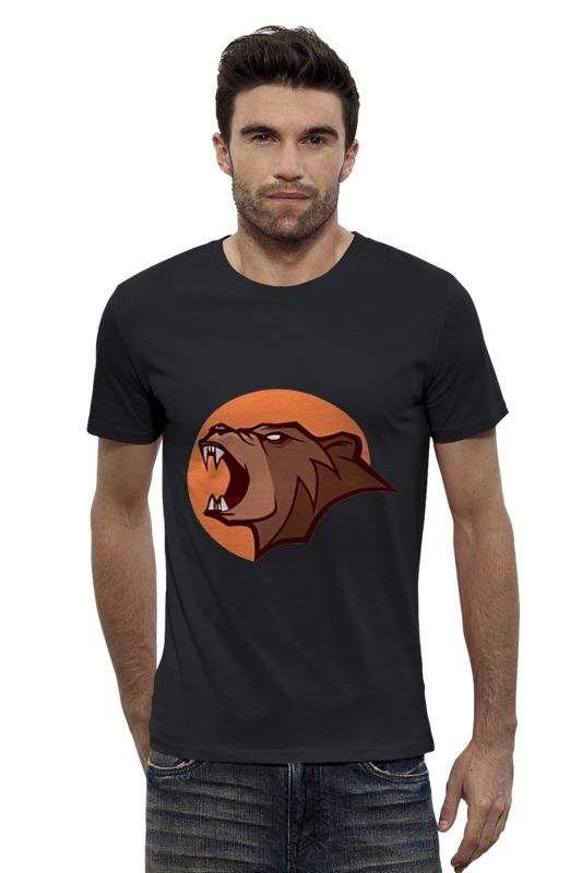 Футболка Wearcraft Premium Slim Fit Printio Bear / медведь лонгслив printio bear beer медведь и мед