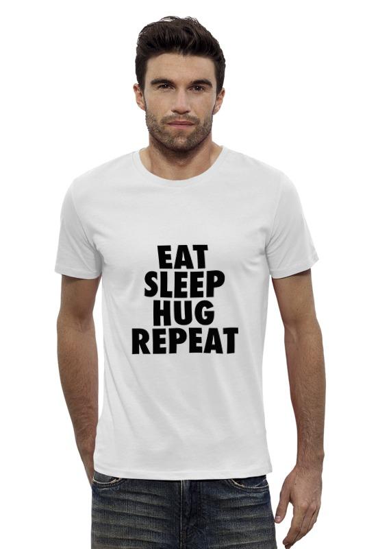 Футболка Wearcraft Premium Slim Fit Printio Ещь, спи, обнимайся!