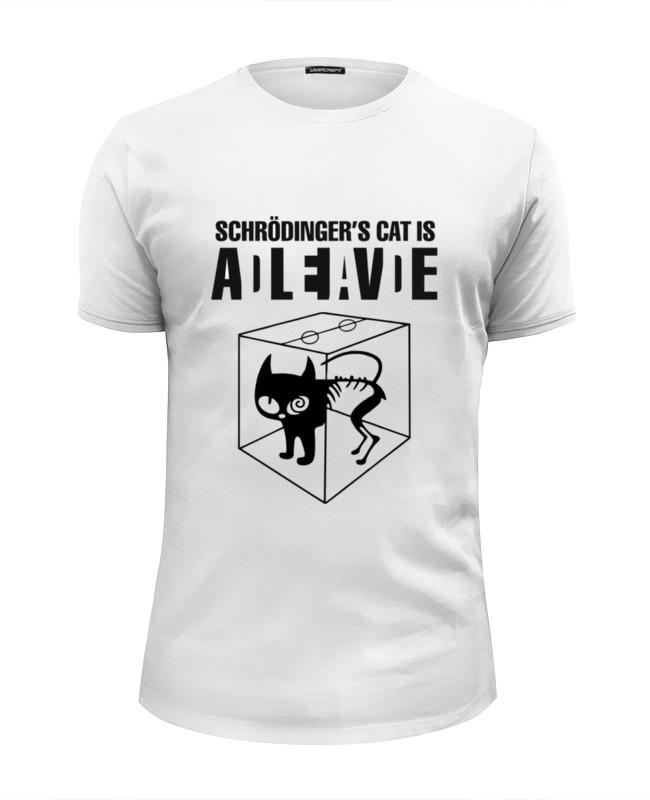 Футболка Wearcraft Premium Slim Fit Printio Кот шрёдингера футболка wearcraft premium slim fit printio кот суши