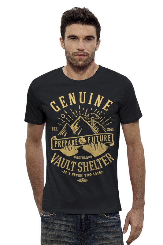 Футболка Wearcraft Premium Slim Fit Printio Fallout. vault shelter