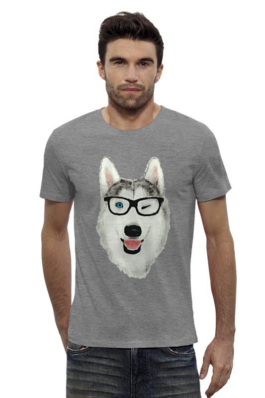 Футболка Wearcraft Premium Slim Fit Printio Хаски в очках что необходимо для хаски содержащейся в квартире
