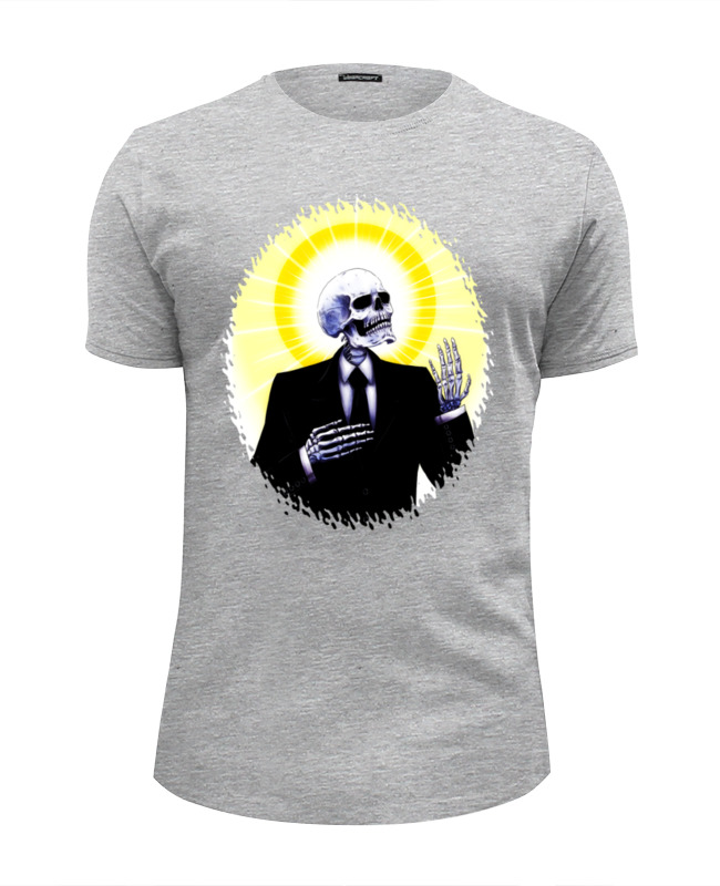 Футболка Wearcraft Premium Slim Fit Printio Holy skeleton футболка классическая printio holy skeleton