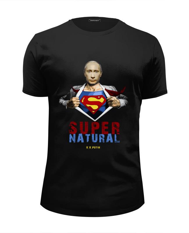 Футболка Wearcraft Premium Slim Fit Printio Путин - сверхъестественный футболка wearcraft premium slim fit printio путин   герой