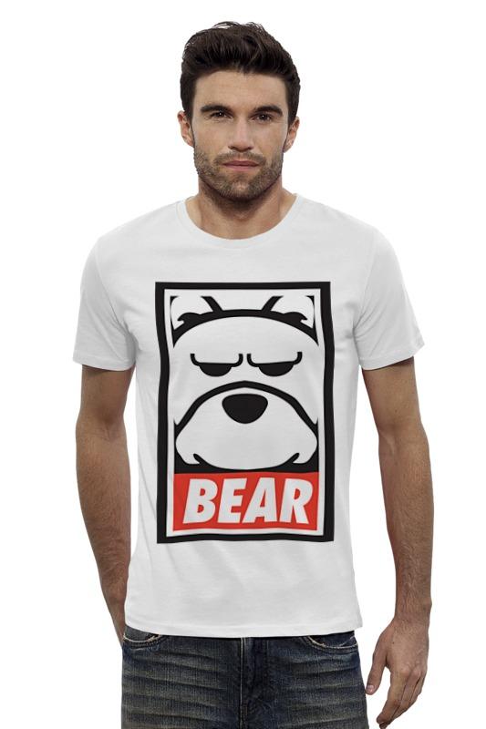 Футболка Wearcraft Premium Slim Fit Printio Мишка (bear, obey) футболка wearcraft premium slim fit printio мишка me to you