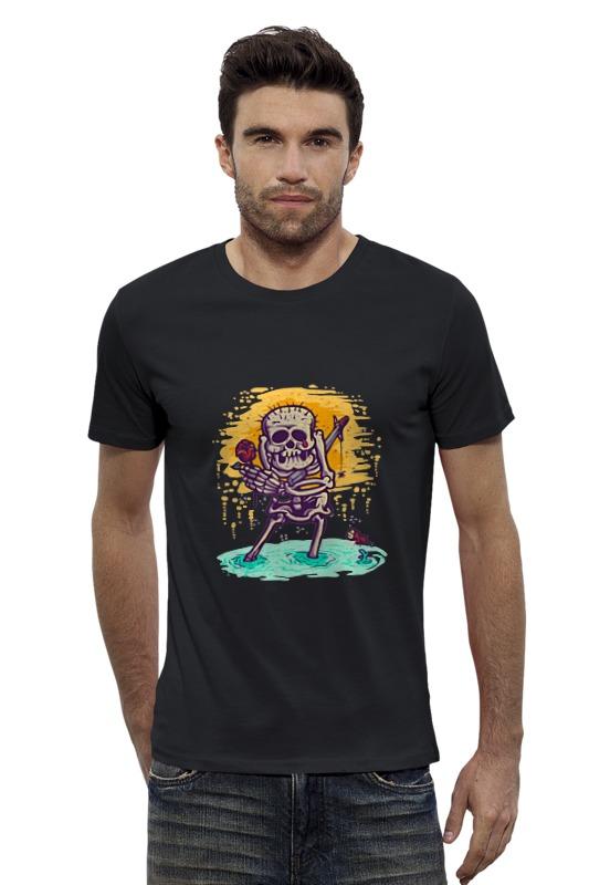 Футболка Wearcraft Premium Slim Fit Printio Скелет с розой футболка wearcraft premium slim fit printio скелет мамонта